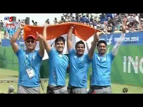 Indian Win Gold In Archery | Men Compound Team Event | Asian Games 2014 : TV5 News