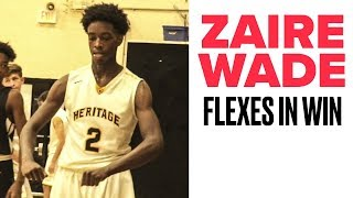 Zaire Wade DOMINATES in Blowout Win by Bleacher Report