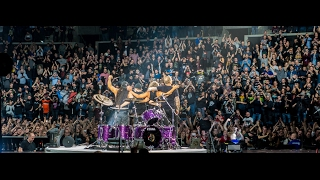 Metallica Live at  Copenhagen Royal Arena, 03/02/2017 - End of Show. Apologies for the Shaky Camera, its hard to film whilst enjoying and getting smashed from the people around you!Metallica cancelled their tour shortly after this due to sickness, so it was a blessing that this show happened!