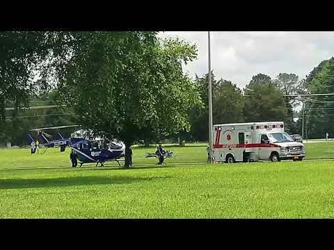 Vidant Health Systems East Care Helicopter, Ahoskie Fire Dept Engine 116,Hertford Co EMS