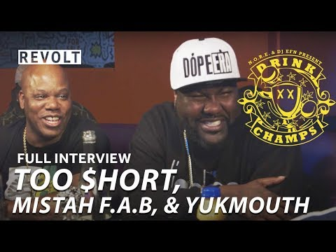 Too $hort, Mistah F.A.B., & Yukmouth | Drink Champs (Full Episode) (видео)