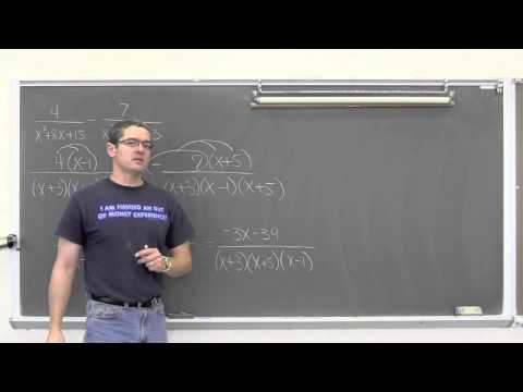 Sum and Difference of Rational Expressions 4 Examples