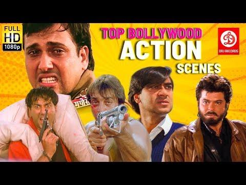 TOP Bollywood Film - Sunny Deol, Ajay Devgan,Sanjay Dutt,Govinda, Anil Kapoor | 90's Action Scenes