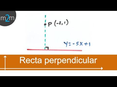 Gleichung einer Geraden durch einen Punkt und senkrecht zur anderen - HD