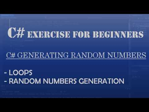 C# Learn To Program – Generating Random Odd Numbers (C# loops)