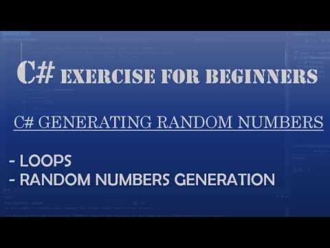 C# Learn To Program – Generating Random Odd Numbers (C# loops)