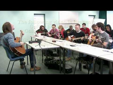 Goldsmiths College - Branco Stoysin Guitar Basics class at Goldsmiths College example. Genuine live video recording no editing. Tunes used here are solely for teaching purposes. ...