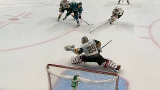 Marc-Andre Fleury raises the glove to rob Meier and keep shutout intact by NHL