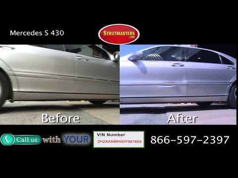 Mercedes S 430 Before and After Suspension Conversion