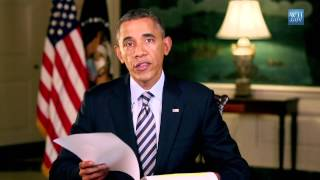 In this week's address, President Obama said that Republicans in the House of Representatives chose to shut down the government over a health care law they don't like. He urged the Congress to pass a budget that funds our government, with no partisan strings attached. The President made clear he will work with anyone of either party on ways to grow this economy, create new jobs, and get our fiscal house in order for the long haul -- but not under the shadow of these threats to our economy.