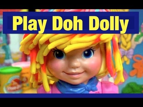 Play-Doh Hairdo Dolly Grows fun Play Dough Hair Doll Toy Review by Mike Mozart TheToyChannel