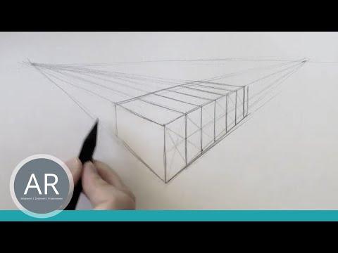 Zeichnen lernen – Flächen in Perspektive