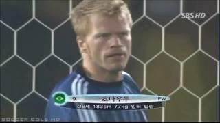 Narração de Willy Gonser e equipe da Rádio Itatiaia. Decisão da Copa do Mundo de 2002, envolvendo Brasil x Alemanha.