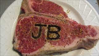 JB Branded Porterhouse steak on the grill by Louisiana Cajun Recipes