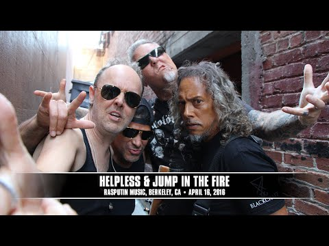 METALLICA Behind The Scenes Video From Rasputin Music Show