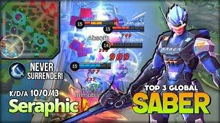 Video 6865 Saber Match is Real! Legend Never Surrender! Seraphic Top 3 Global Saber ~ Mobile Legends MP3, 3GP, MP4, WEBM, AVI, FLV November 2018