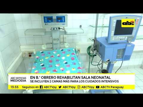 Barrio Obrero rehabilita sala de terapia neonatal con más camas