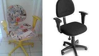Esse é um vídeo que ensina como pintar e reformar estofado de cadeira de escritório velha.