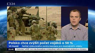 Polsko chce zvýšit počet vojáků o 50 %