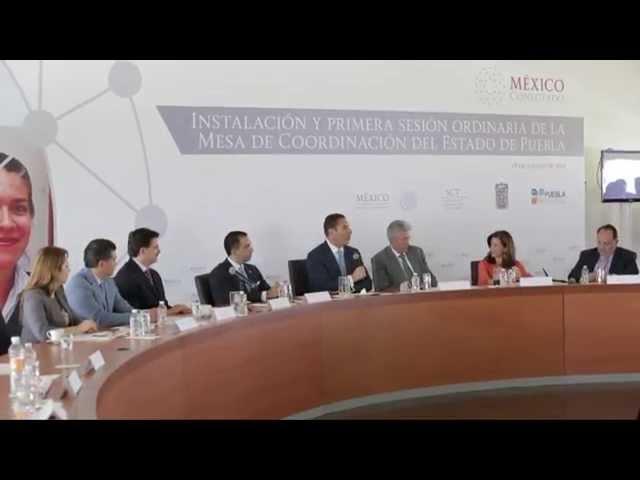 Mesa de Coordinación de México Conectado en Puebla