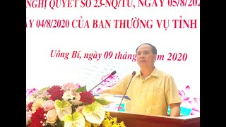 Quán triệt, triển khai Nghị quyết số 23-NQ/TU của Ban Chấp hành Đảng bộ tỉnh và Chỉ thị số 42-CT/TU của Ban Thường vụ Tỉnh ủy