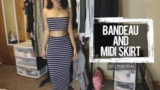 "*****Click for More Details Below*****Hello there, I hope all is groovy. Here is a Bandeau & matching Midi Skirt tutorial. Something really cute and effortless for the summer. I hope you all enjoy this video. Please let me know if you have any questions!!!! Thank you so much for watching.If you enjoyed this video:Please, Like & Subscribe! Previous Tutorials:Ribbed Cami Dress with a Side-Slithttps://www.youtube.com/watch?v=YUXxtvMjpLUBell-Sleeve & Bell Bottom Pants SetTop:https://www.youtube.com/watch?v=HeE1WgR5zC4Bottom: https://www.youtube.com/watch?v=uLYjwdyyNagFabric:Walmart""Navy & White Striped Jersey Fabric""Sewing Machine:Brother Project Runway Sewing Machine CE1100PRWMusic: Goblins From Mars - Cold Blooded Love Feat. Krista Marina (Arc North Remix)https://soundcloud.com/freesongstouse/goblins-from-mars-cold-blooded-love-feat-krista-marina-arc-north-remixhttps://theartistunion.com/tracks/9a543dSpecs:Camera: Canon Rebel t5i/700D/Kiss X7iEditing Software: Final Cut Pro & iMovie (mainly)"