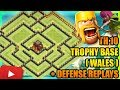 Clash Of Clans - New Town Hall 10 (TH10) Trophy Base + Defense Replays | ANTI 2 STAR | ANTI VALKYRIE