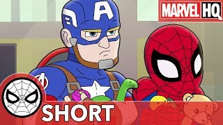 Spidey & Cap Take on a Toy Thief! | Marvel Super Hero Adventures - The Toys Are Back In Town | SHORT