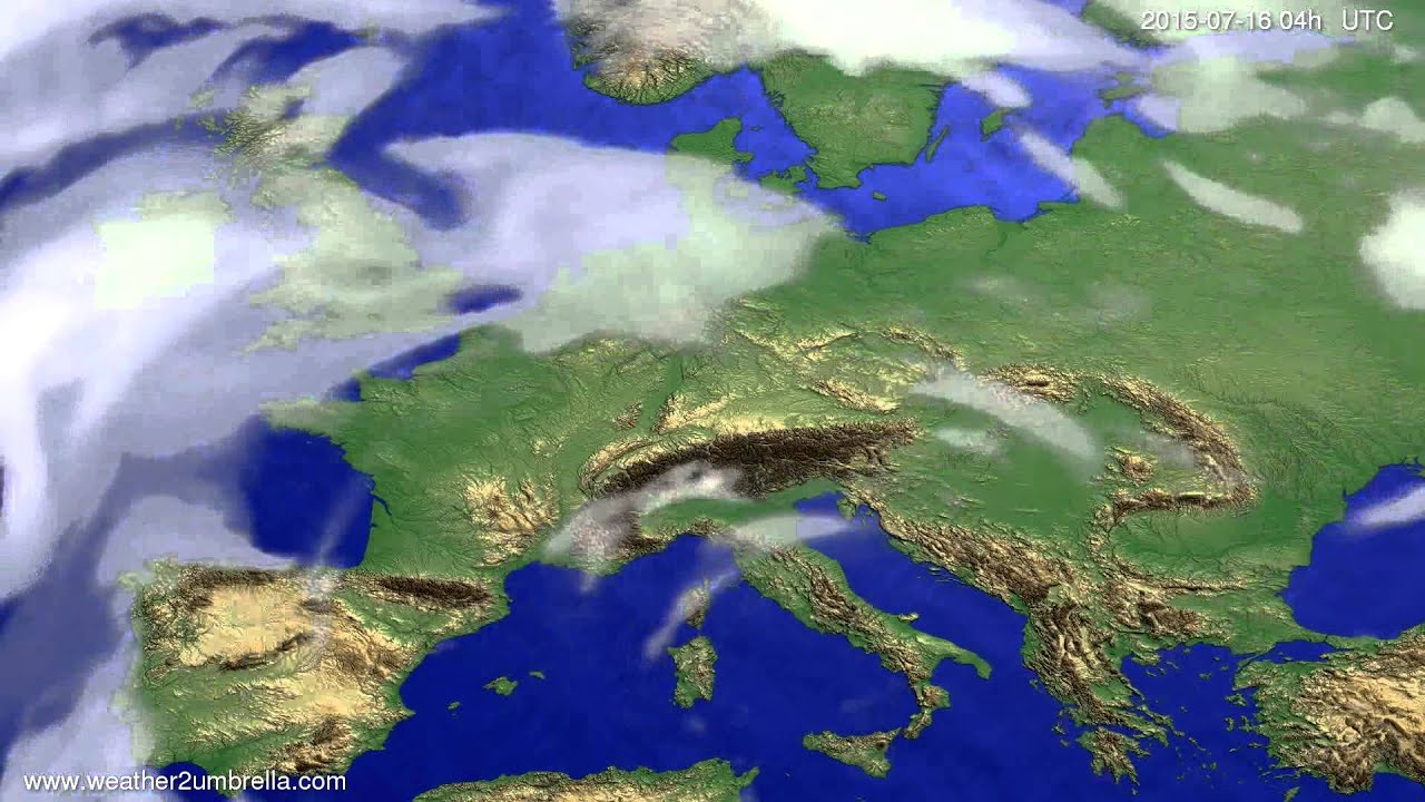 Cloud forecast Europe 2015-07-13