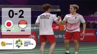 Video GOKIL! Gideon-Sanjaya Meratakan Jepang di Semifinal Badminton Beregu Putra | Asian Games 2018 MP3, 3GP, MP4, WEBM, AVI, FLV Oktober 2018
