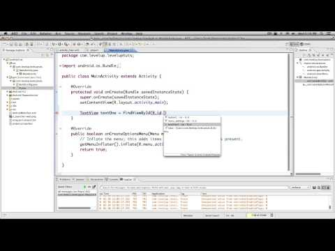 Android Development Tutorials #7 - Using Java to Manipulate Our Layout