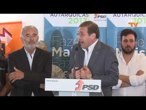 Pedro Passos Coelho na apresentação de candidatura de António Sebastião à Câmara Municipal de Almodôvar.
