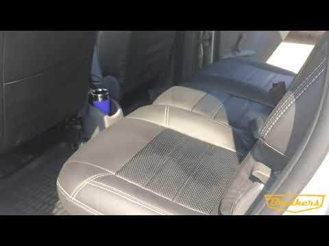 """Чехлы на Ford C-Max, серии """"Premium"""" - серая строчка"""