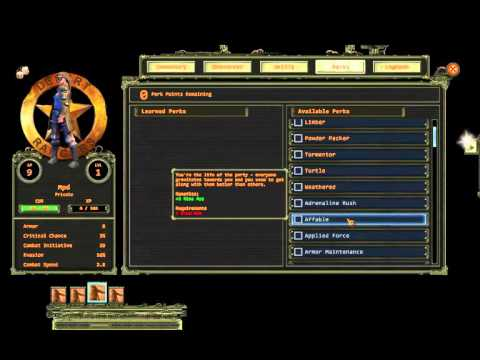 Wasteland 2: Director's Cut - Patch 1 balance changes
