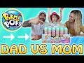 Pikmi Pops Surprise PushMi Ups Ice Pop! Mom vs Dad CHALLENGE to get NO DUPLICATES!