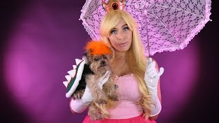 Princess Peach & Bowser Cosplay w/ your PET! - DIY by iHasCupquake