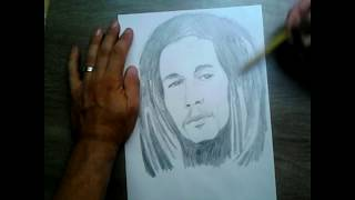 drawing of a bob marley pictures رسم لبوب مارلي