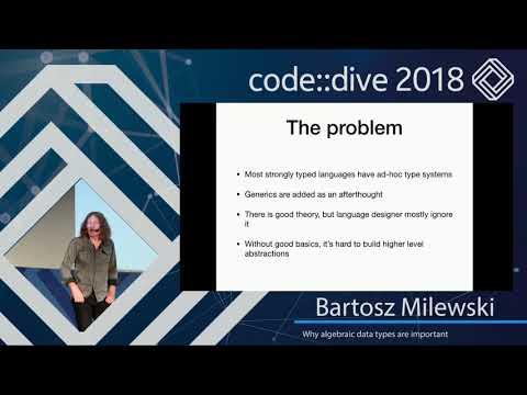 Why algebraic data types are important - Bartosz Milewski - code::dive 2018