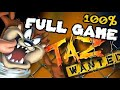 Taz Wanted Walkthrough 100 Full Game Longplay pc Ps2 Ga