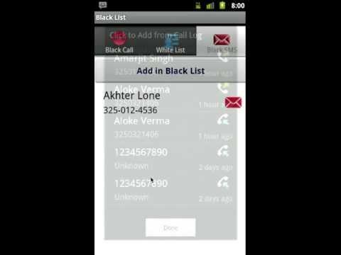 Video of Call Blocker X Block Calls SMS