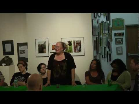 Artist talk at Overlooked/Looked Over opening
