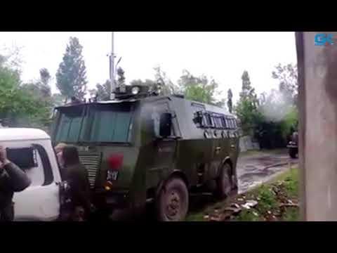 Pulwama gunfight ; three militants, civilian killed