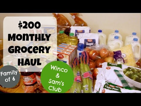 $200 Monthly Grocery Shopping Haul-- Winco and Sam's Club