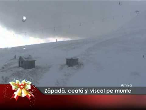 Zăpada, ceaţă şi viscol pe munte