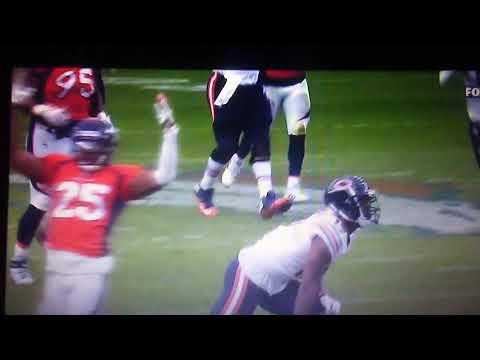 Last second of Bears VS. Broncos