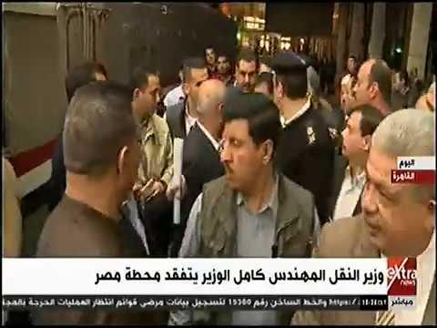 قناة eXtra news نشرة أخبار السادسة وزير النقل المهندس كامل الوزير يتفقد محطة مصر 23-3-2019
