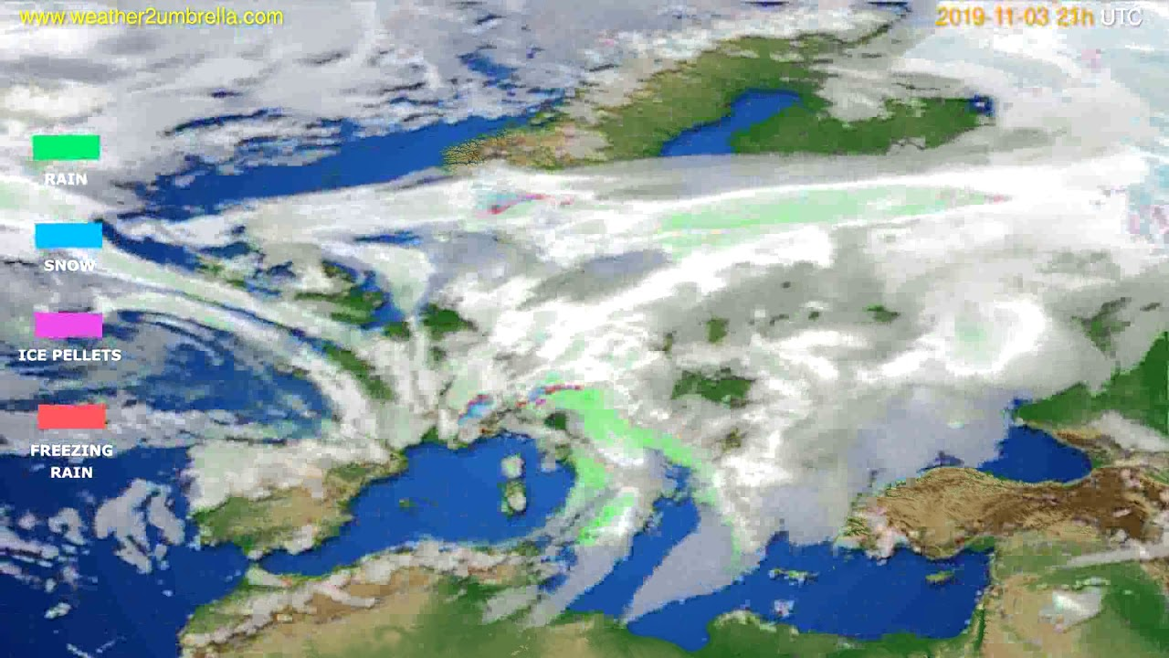 Precipitation forecast Europe // modelrun: 12h UTC 2019-11-02