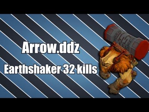 Arrow.ddz - Earthshaker Mid 32 kills | Dota 2 Gameplay