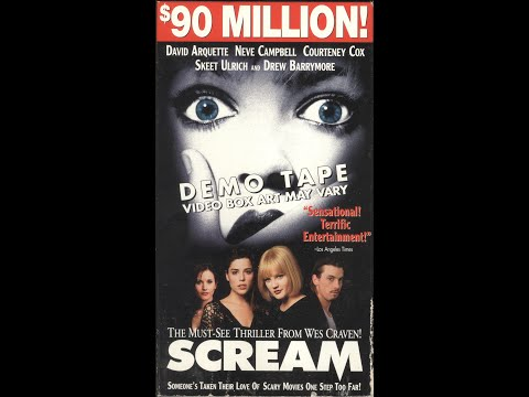 Opening to Scream 1997 Demo VHS