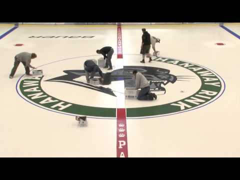 Watch the PSU crew Paint the Panther at Hanaway Rink Center Ice